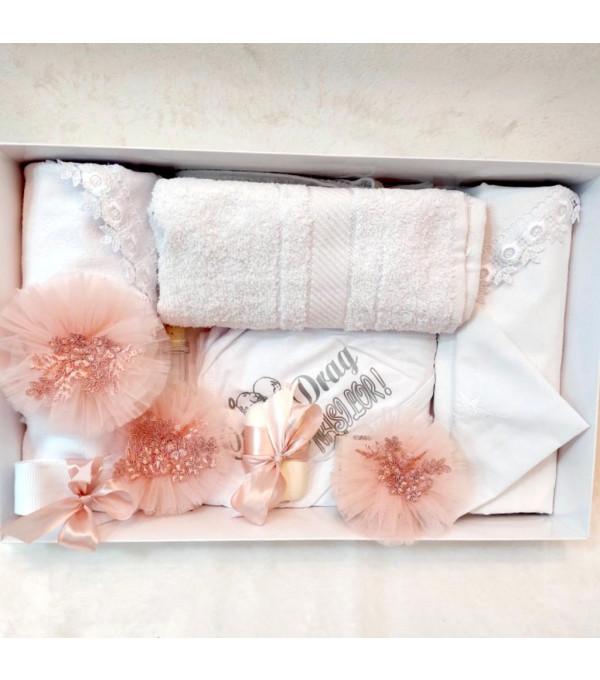 Trusou botez pampon roz pudra DM-TRUSOU01X