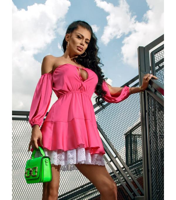 Rochie de vara roz Mexton MEXR8732X