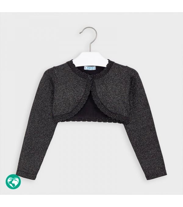 Bolero gri inchis tricot basic fetita 00314 MY-BO02P