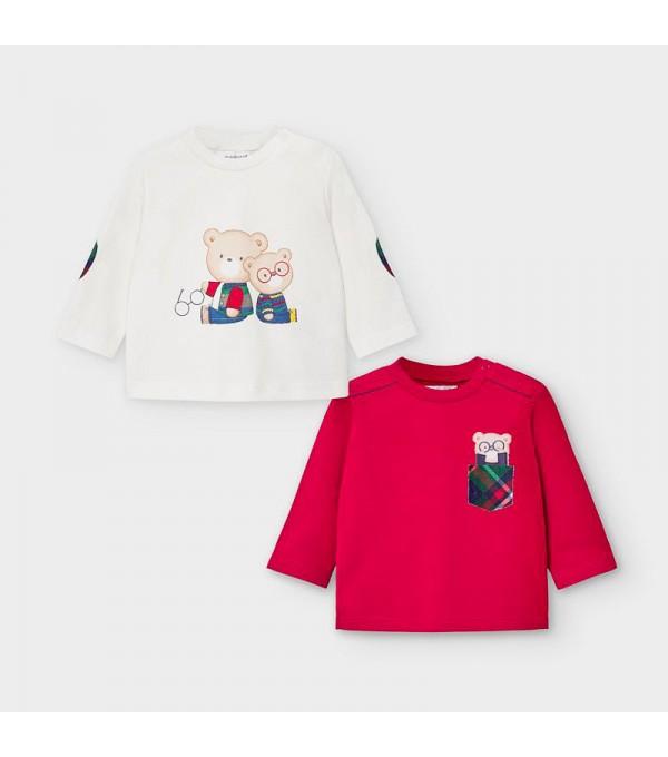 Set bluze alb-rosu nou-nascut baiat MAYORAL 2034 MY-BL109Y