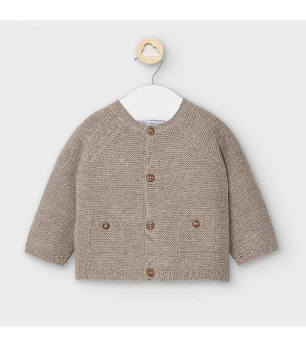 Cardigan tricotat nou-nascut baiat crem 2334 MY-G02V