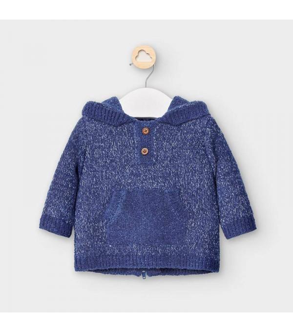 Hanorac tricot ciucure nou-nascut baiat MY-BL49V