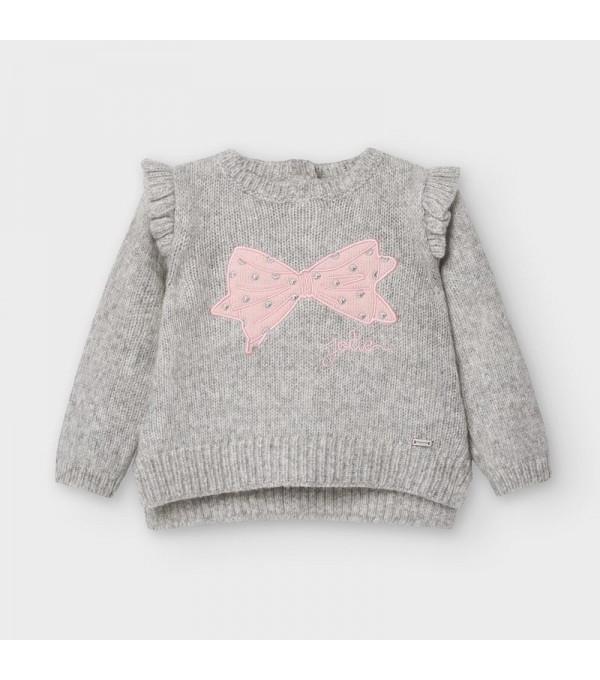 Pulover gri tricot bebe fetita MAYORAL 2357 MY-BL18V