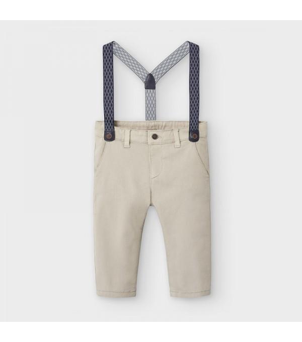 Pantaloni lungi chino pique bretele bebe baiat 2575 MY-PL18V