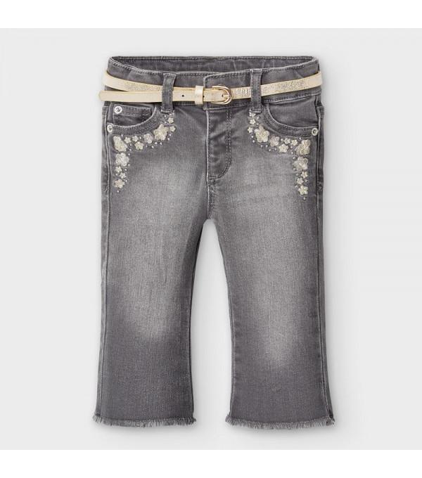 Pantaloni lungi denim clopot bebe fetita 02590 MY-BG101Y
