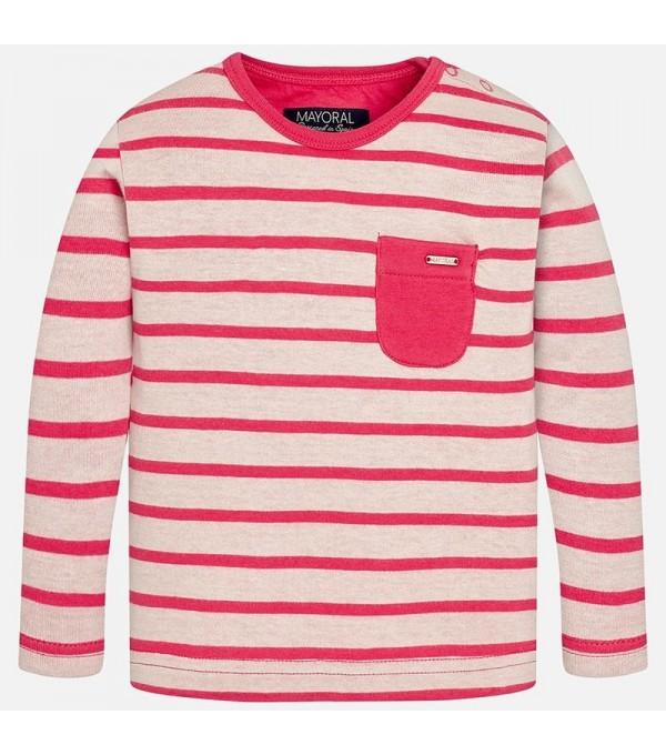 Bluza dungi rosu-alb baieti Mayoral My-bl17g