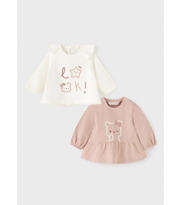 Set tricouri maneca lunga nou-nascut fata 2060 MY-BL06Y