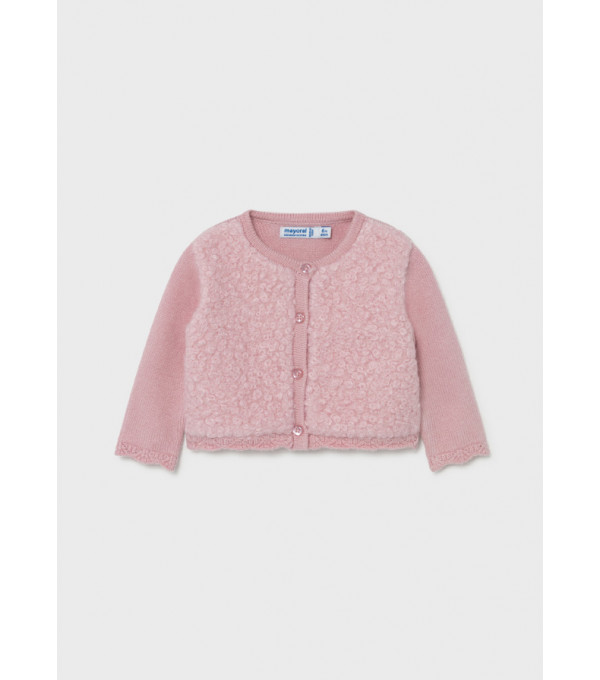 Cardigan tricot combinat bebe fata 2386 MY-G31Y