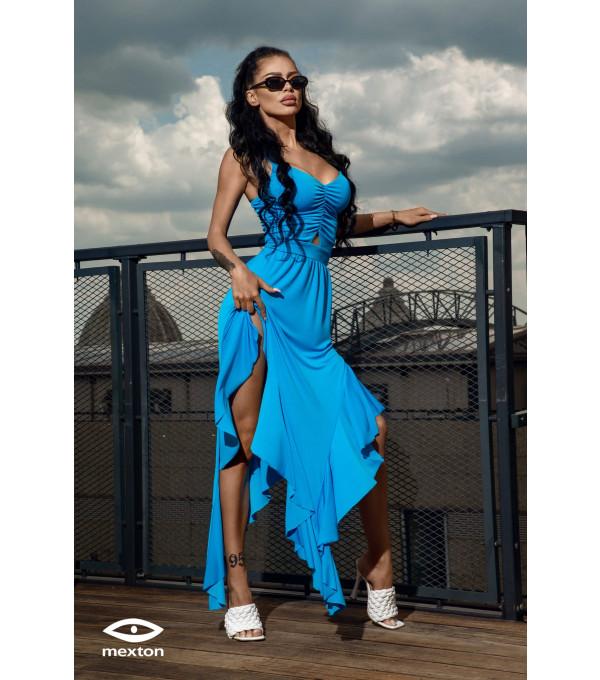 Rochie lunga albastra Mexton MEXR8754X