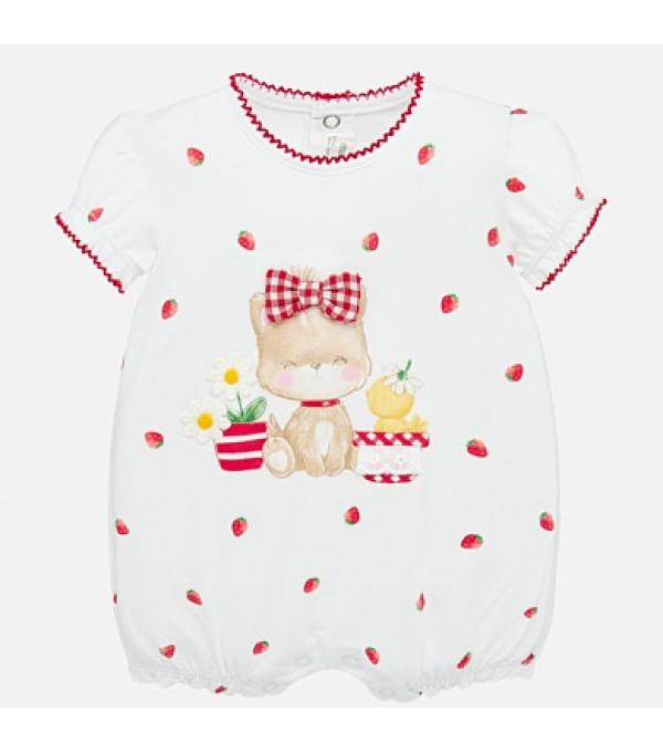 Pijama scurta grafica bebe fetita nou-nascuta Mayoral My-bd15p