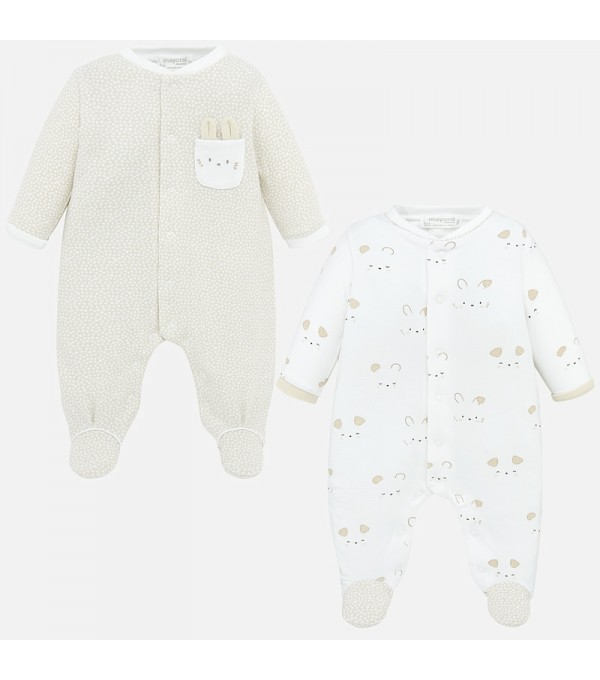 Set pijamale lungi bebe baiat nou-nascut Mayoral My-set71p