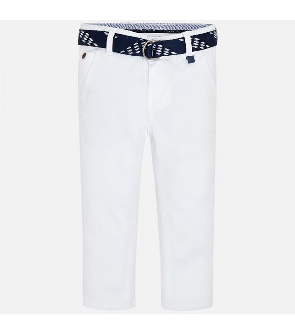 Pantaloni albi cu curea baiat MAYORAL 3531 MY-PL37W
