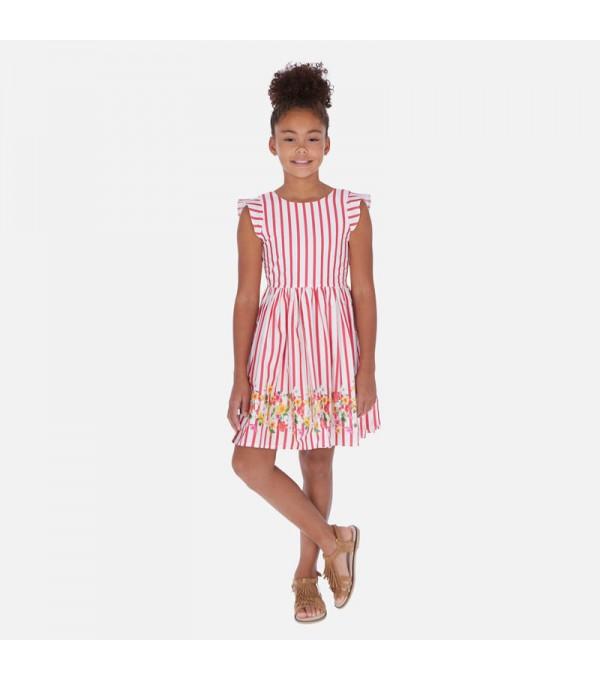 Rochie alba-dungi rosii fete Mayoral MY-R155W