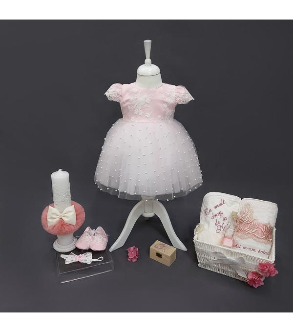 Rochie roze perlute NB-R01X