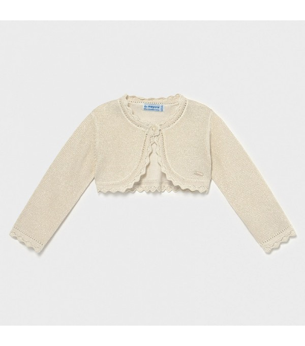 Cardigan tricot bej bebe fetita 00306 MY-BO04X