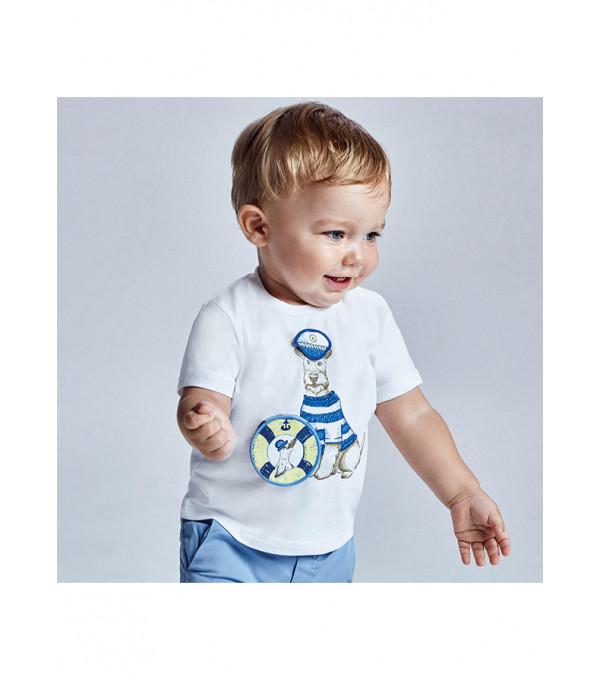 Tricou PLAY WITH imprimeu interactiv bebe baiat 1007 MY-BL78X