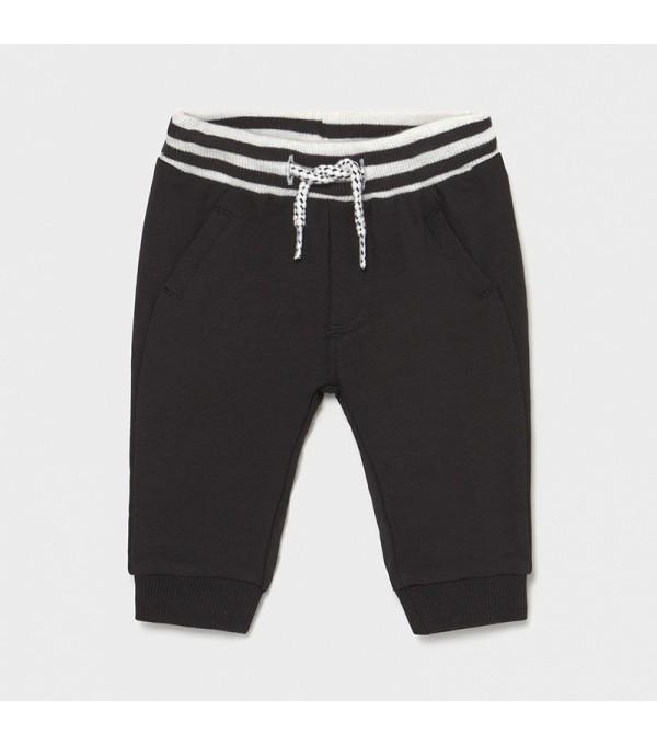 Pantaloni negri lungi nou-nascut baiat 1572 MY-PL09X