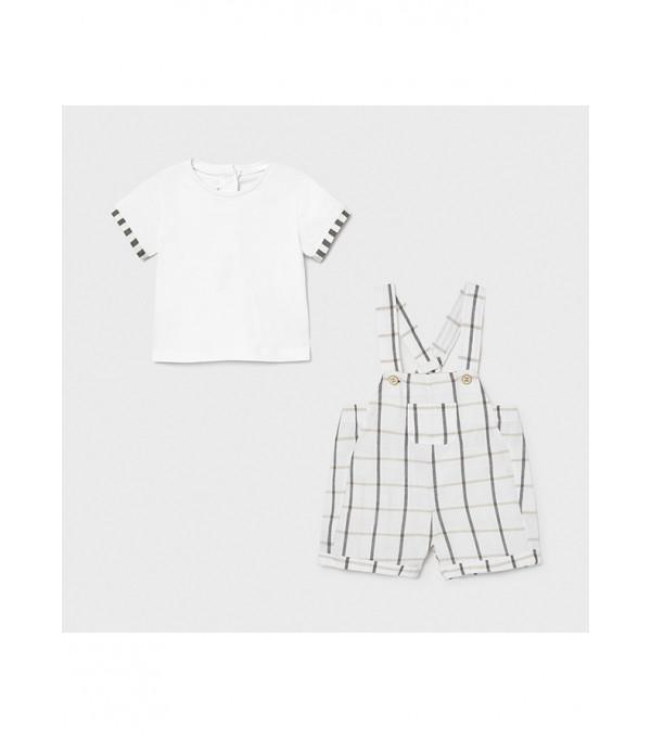 Set salopeta si tricou nou-nascut baiat 1653 MY-CS45X