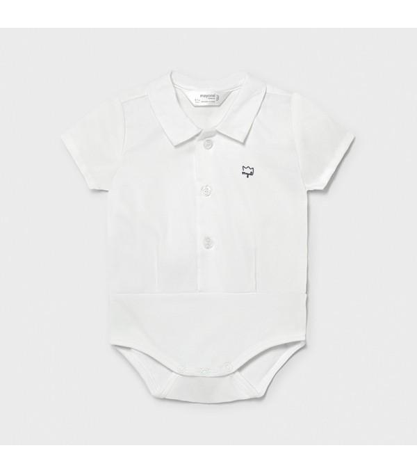 Body camasa alba nou-nascut baiat 01702 MY-BD04X