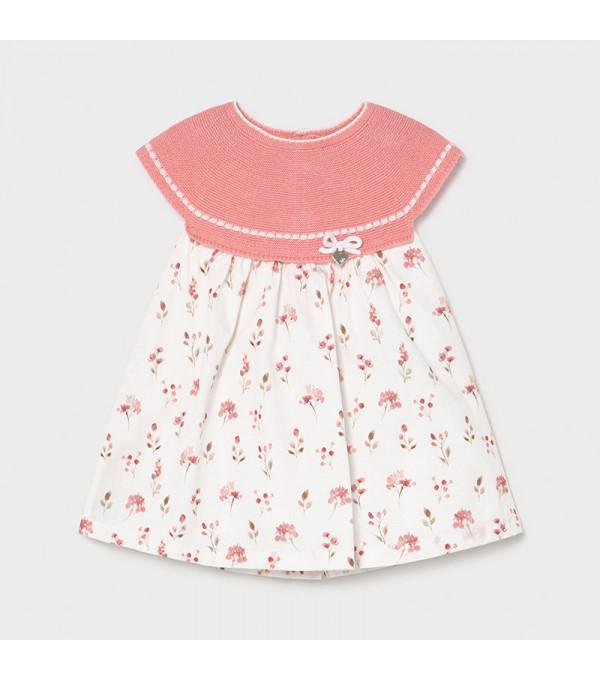 Rochie combinata tricot new born fata 1805 MAYORAL MY-R14X