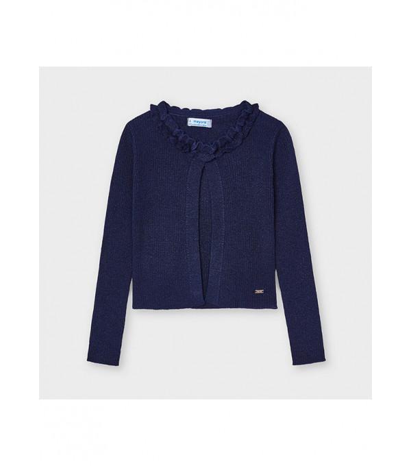 Cardigan tricot guler incretit fetita 3325 MY-BL107X