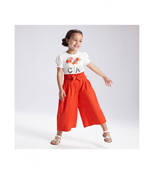 Pantaloni culotte poplin fetita 3551 MY-PL28X