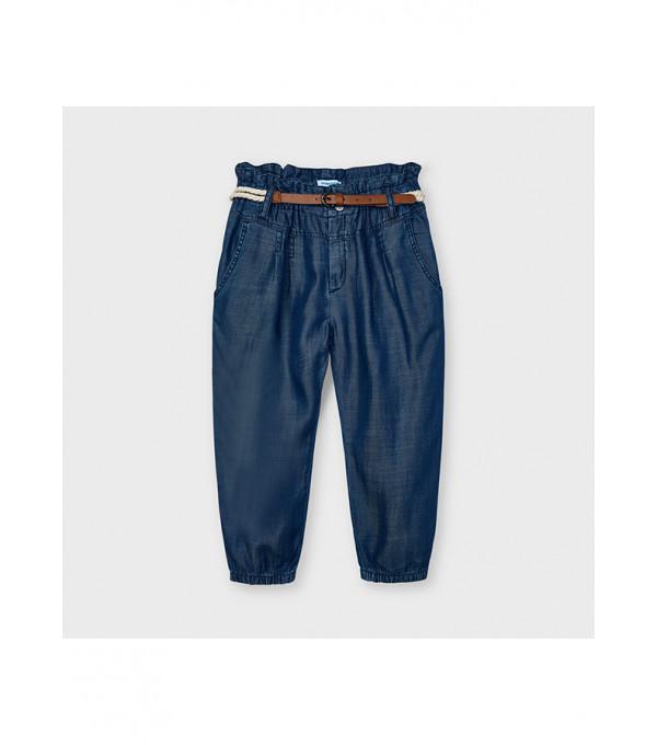 Pantaloni lungi fluizi curea Ecofriends fetita 3552 MY-PL30X