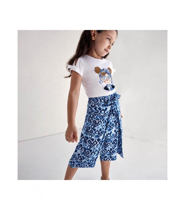 Pantaloni culotte imprimeu fetita 3553 MY-PL24X