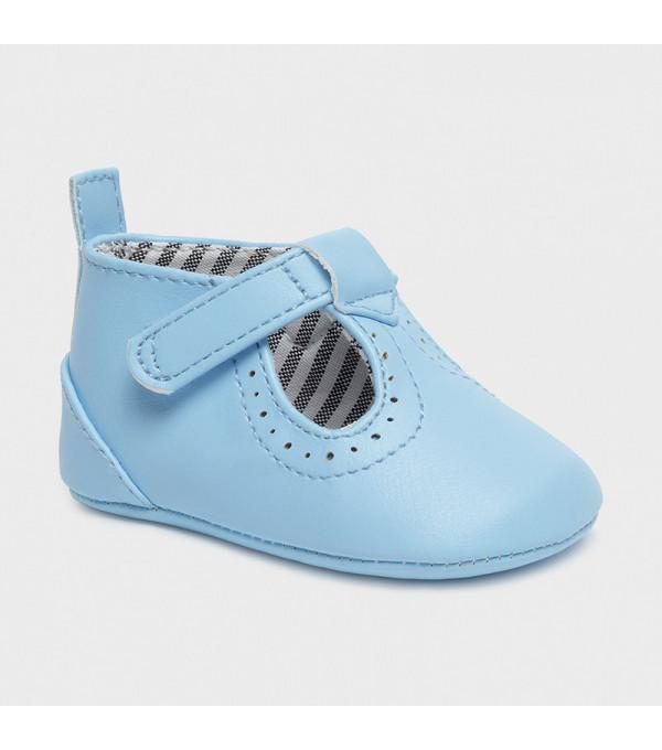 Pantofi bleu piele ecologica nou-nascut baiat 9392 MY-PANTF08X