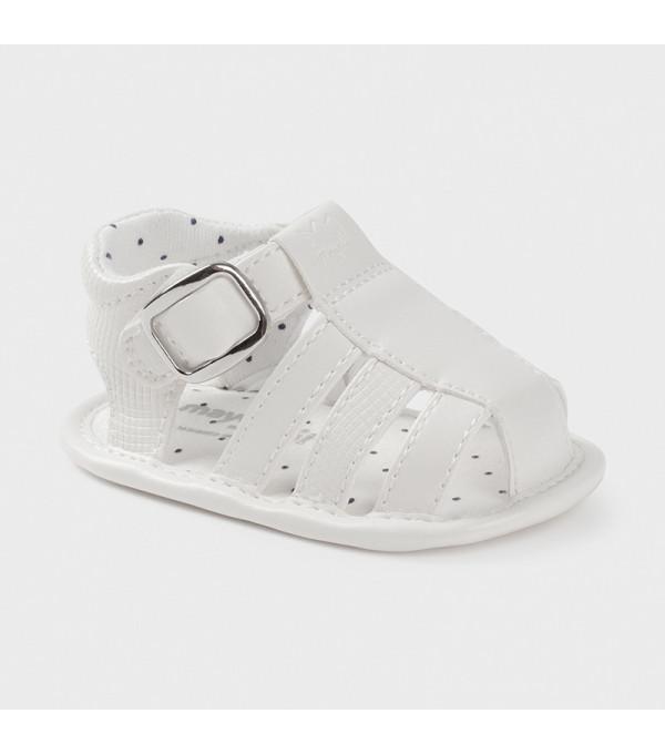 Sandale alb piele ecologica nou-nascut baiat 9396 MAYORAL MY-SAND05X