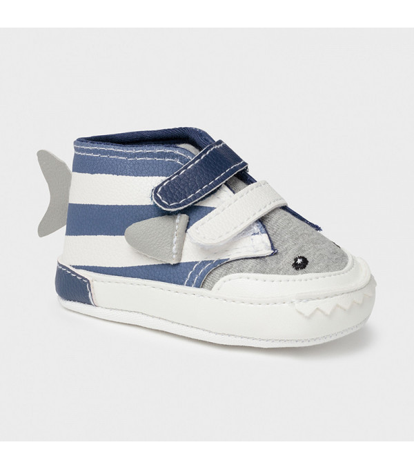 Pantofi albastri nou-nascut baiat 9398 MY-TEN04X