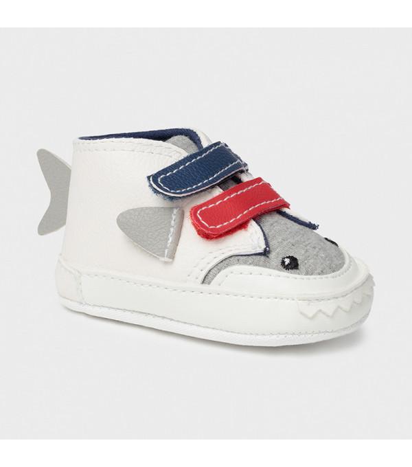 Pantofi albi nou-nascut baiat 9398 MY-TEN04X