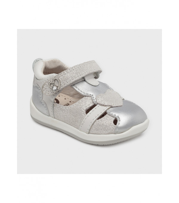 Sandale piele inimioara primii pasi bebe fetita 41242 MY-SAND35X