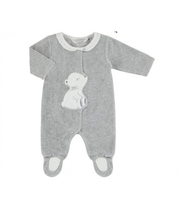 Pijama catifea gri Mayoral My-pija04a