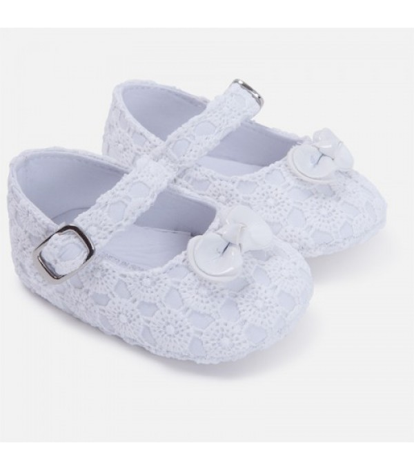 Pantofi albi fetite Mayoral MY-PANTF04G