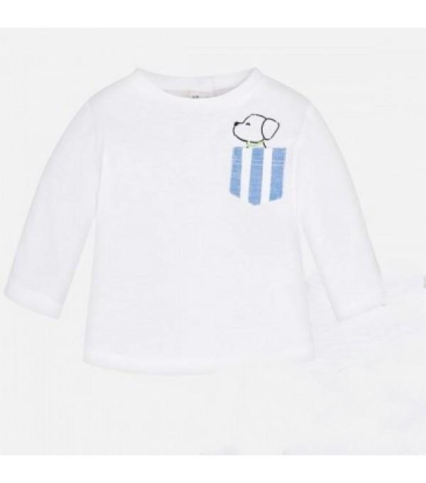 Bluza baieti alba  Mayoral Mybl05k