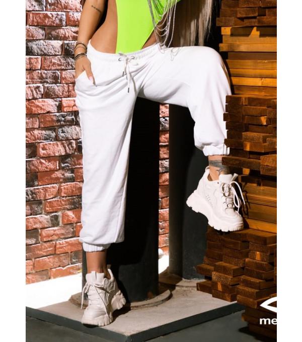 Pantaloni bumbac albi Mexton MEXPL8540X