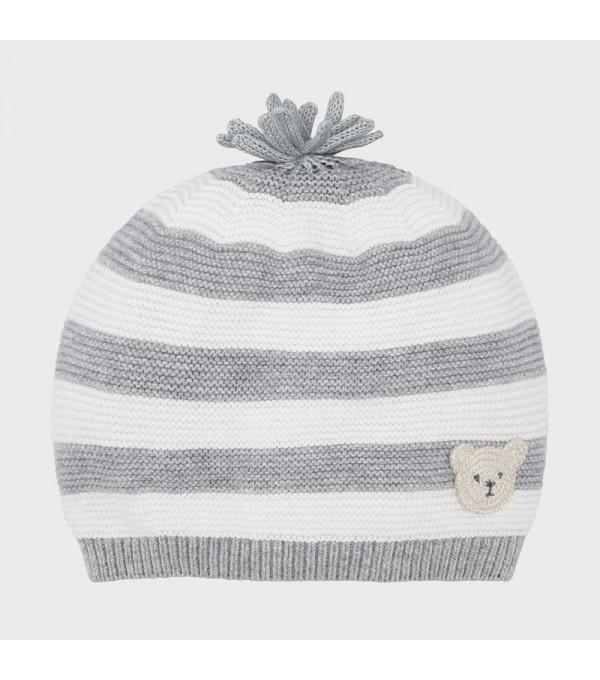 Caciula tricot gri-alb baiat MAYORAL 9320 MY-CACIULA02V