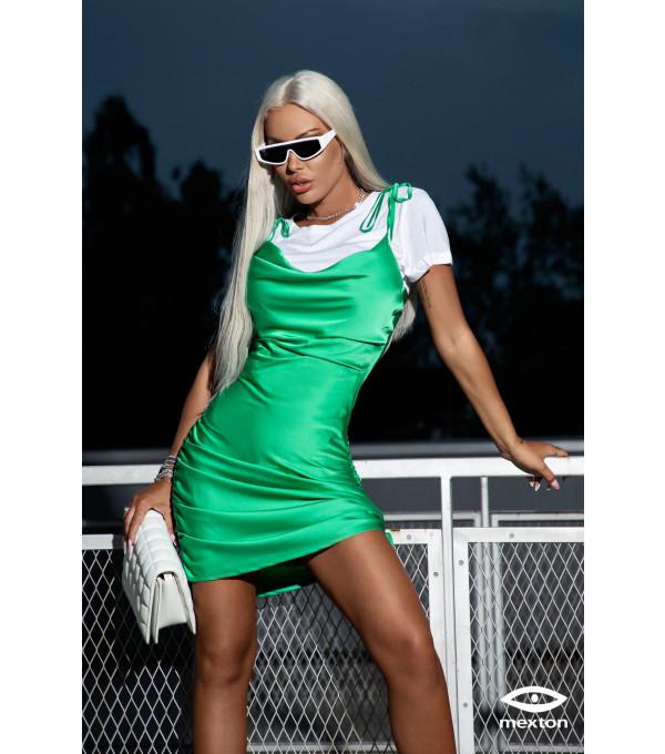 Rochie verde Mexton MEXR8786Y