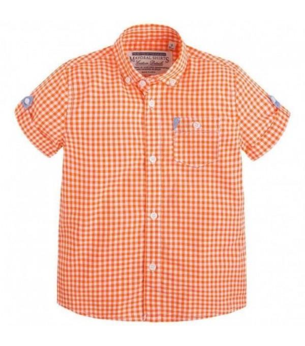 Camasa carouri portocalie MAYOROL MY-CM421A