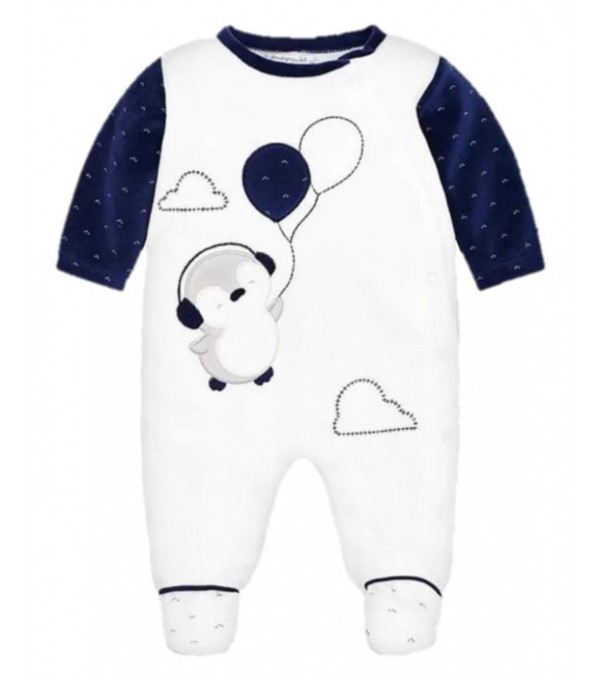 Pijama alb-bleumarin Mayoral My-set22a