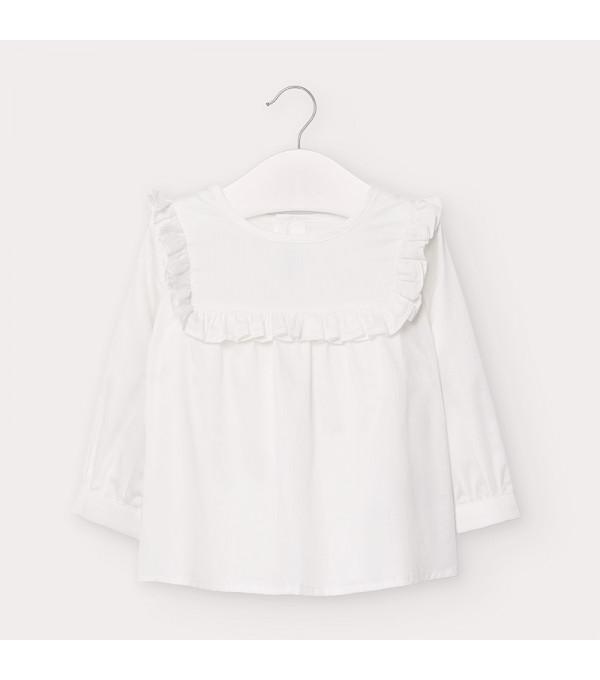 Bluza alba poplin bebe fetita 02136 MY-CM103Y