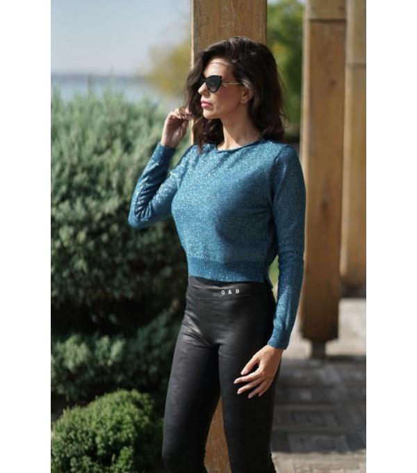 Bluza albastra oceanic cu sclipici it-bl14s
