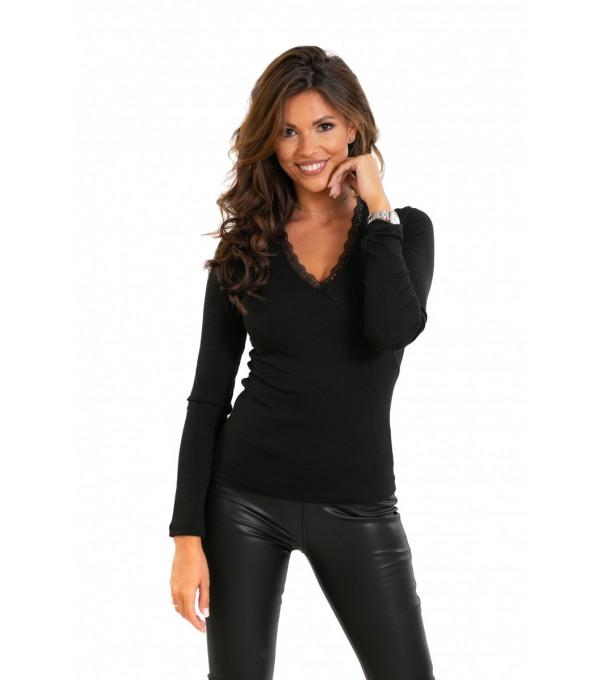 Bluza neagra fina dama IT-BL01x