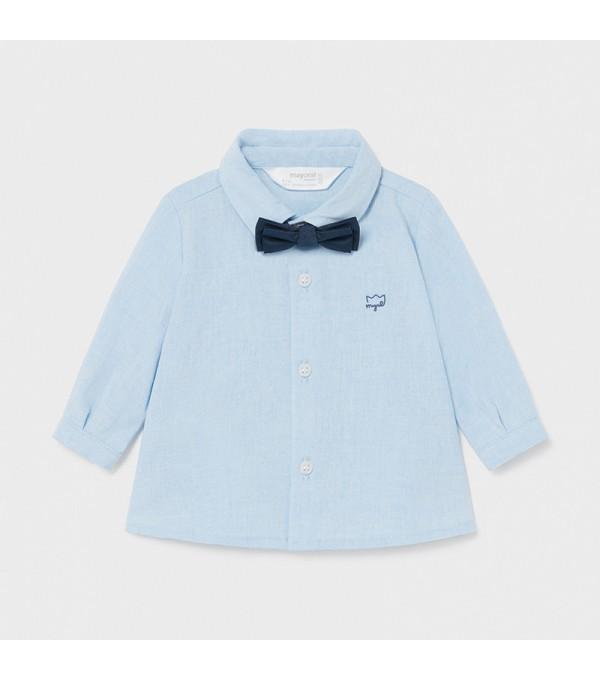 Camasa bleu cu papion bebe Mayoral My-cm03x