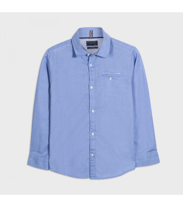 Camasa blue maneca lunga contraste baiat 7134 MY-CM121Y
