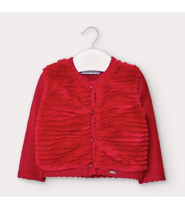 Cardigan rosu tricot plus bebe fetita 2359 MAYORAL MY-BL130Y