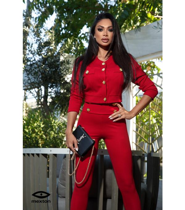 Costum rosu Mexton MEXCS8829Y