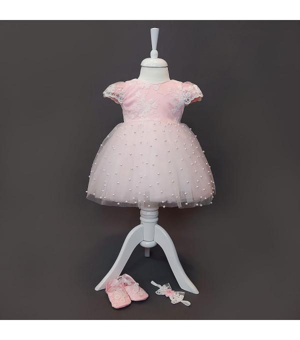 Rochita roz tull-perle NB-R01X