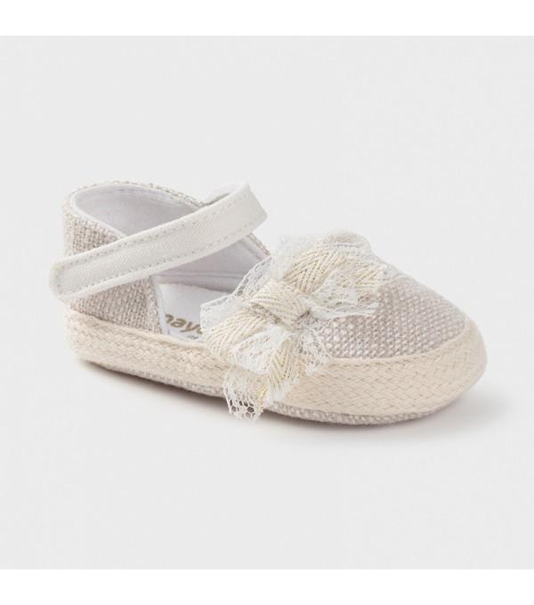 Pantofi new born crem fata Mayoral 09402 MY-EXPA01X